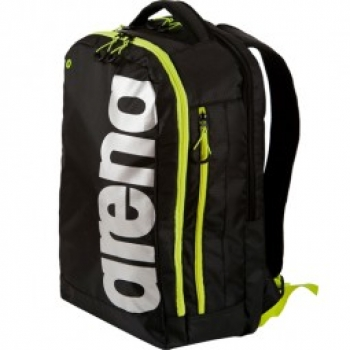 ARENA Fast Urban-Trainer-Rucksack; black-fluo yellow-silver
