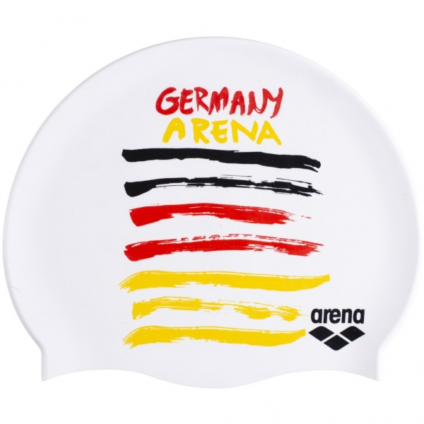 ARENA; Badekappe Flags Silicone Cap GERMANY